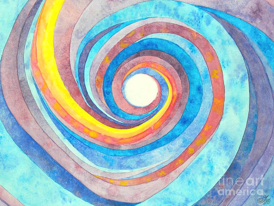 Watercolor Painting - Vertigo 4 by Sue Gardiner