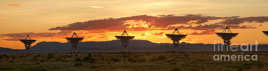 Very Large Array At Sunset Photograph