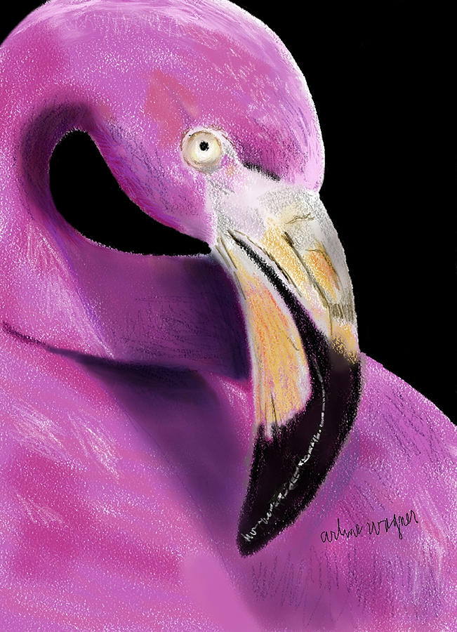 Very Pink Flamingo Digital Art  - Very Pink Flamingo Fine Art Print
