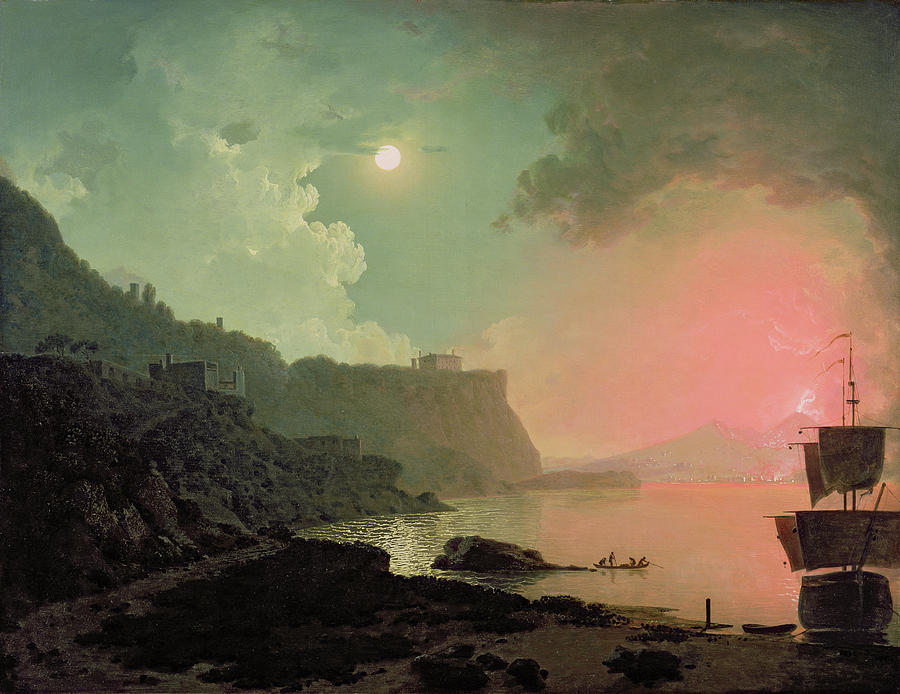 Vesuvius From Posillipo Painting