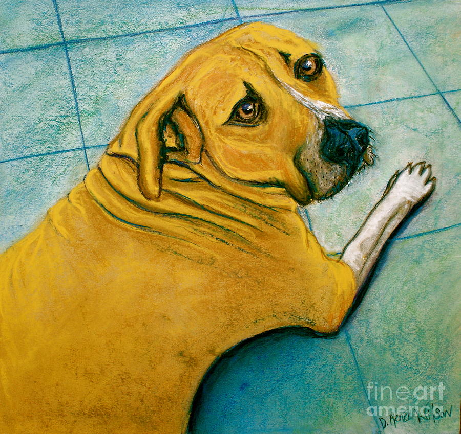 Vets Office Blues Painting  - Vets Office Blues Fine Art Print
