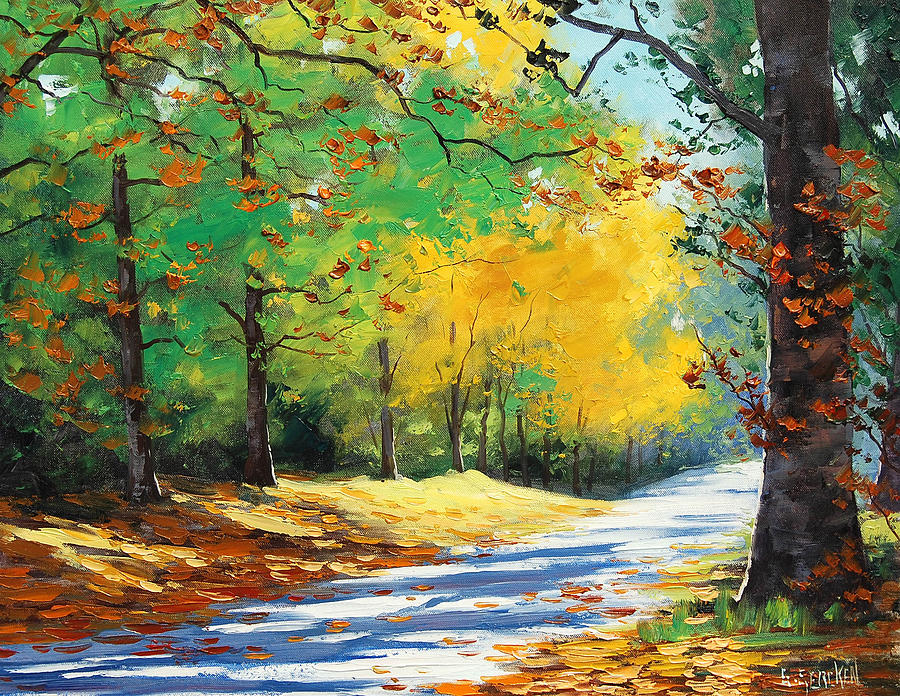 Vibrant Autumn Painting  - Vibrant Autumn Fine Art Print