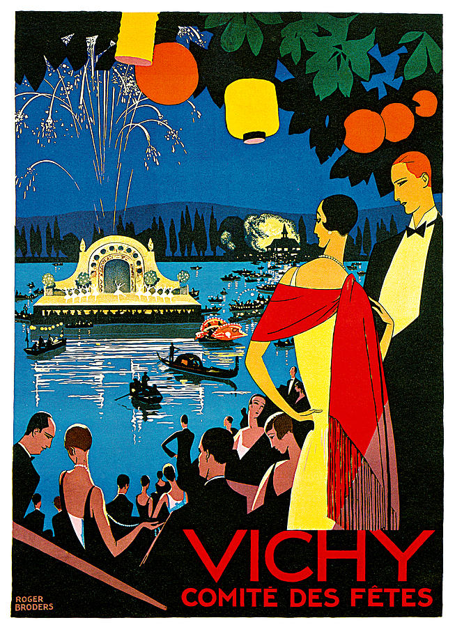 Roger Broders Vichy Painting - Vichy Comite Des Fetes by Roger Broders