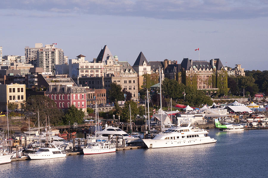 Victoria B.c. Cityscape by MaryJane Armstrong