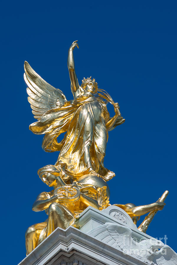 Angel Photograph - Victoria Memorial London by Andrew  Michael