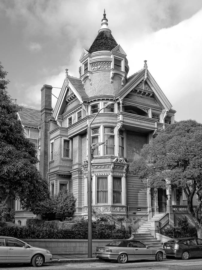 Victorian Haas Lilienthal House In San Francisco Photograph  - Victorian Haas Lilienthal House In San Francisco Fine Art Print