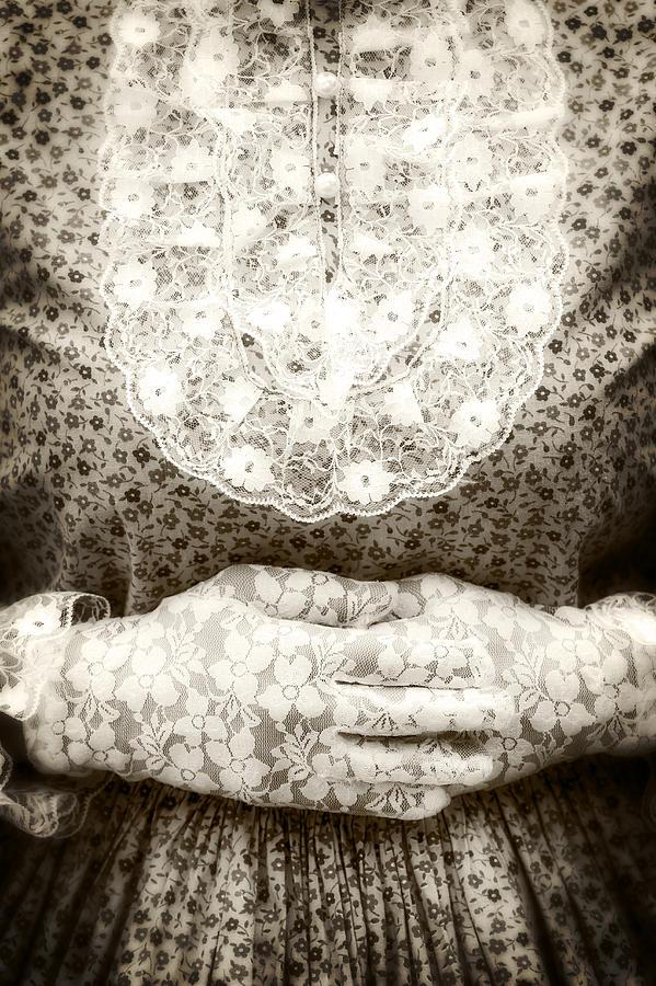 Female Photograph - Victorian Hands by Joana Kruse