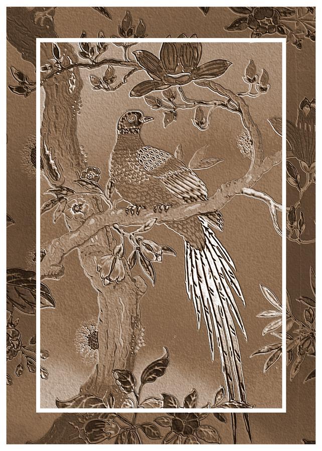 Victorian Pheasant In Sepia Photograph