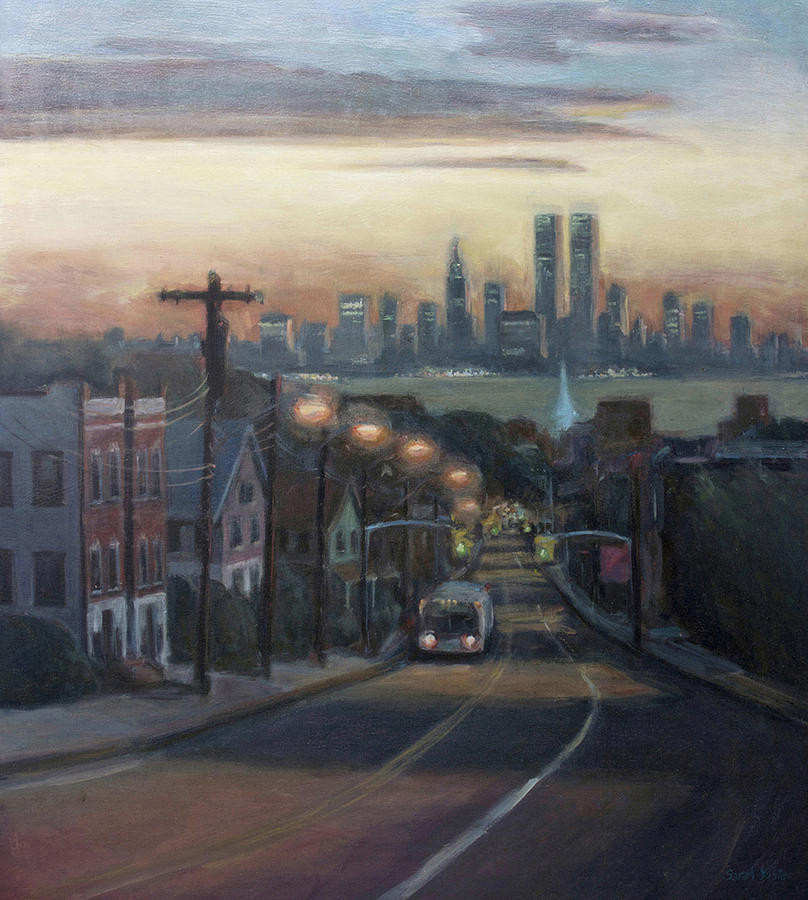 Victory Boulevard At Dawn Painting  - Victory Boulevard At Dawn Fine Art Print
