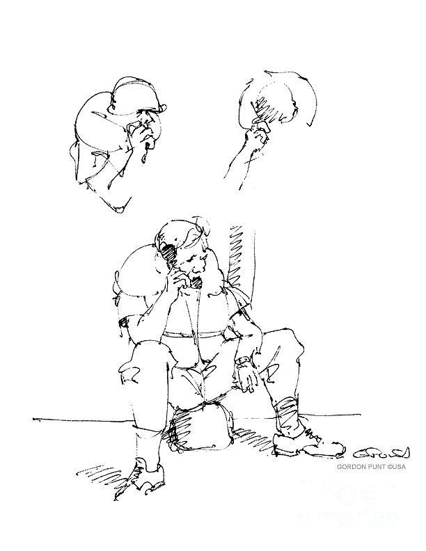 Vietnam War Art Drawing - Vietnam War Art-6 by Gordon Punt