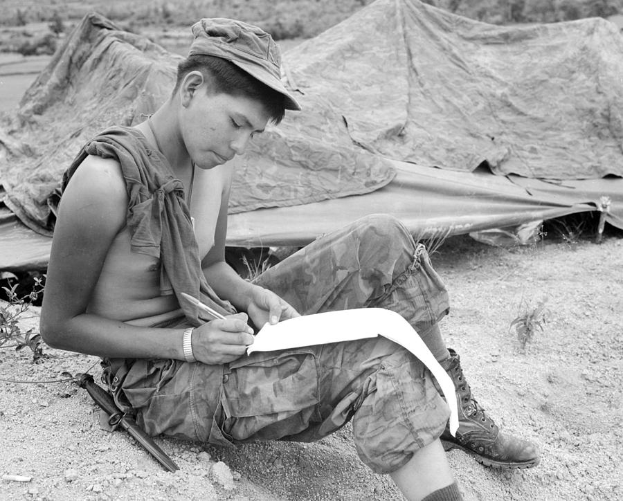 Vietnam War. Private First Class Joseph Photograph  - Vietnam War. Private First Class Joseph Fine Art Print