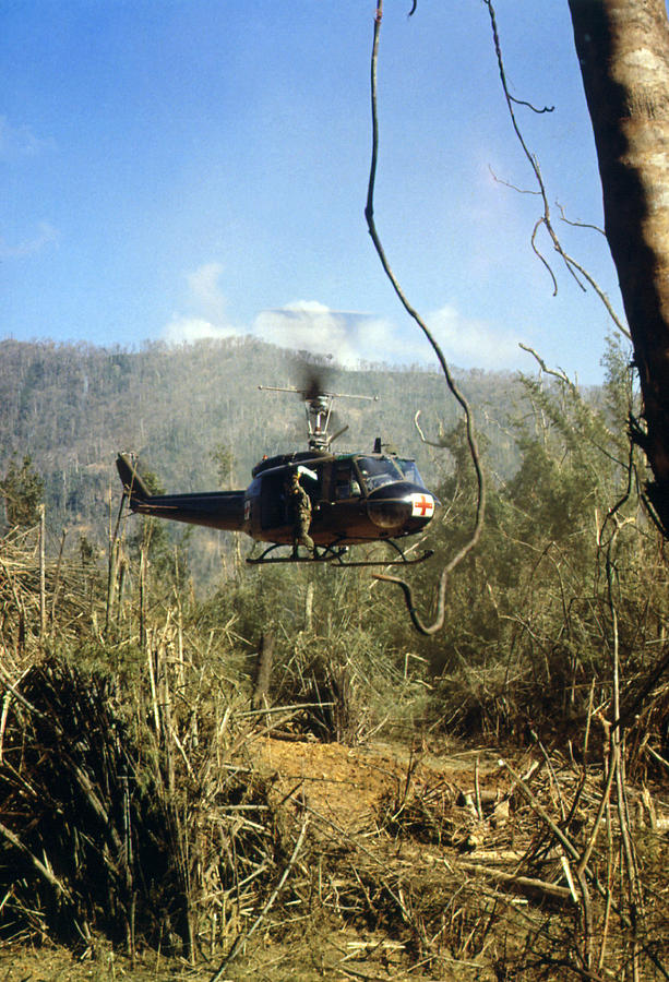 Vietnam War, South Vietnam, A Uh-1d Photograph