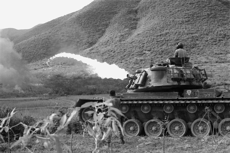 Vietnam War. Us Marine Corps Flame Photograph