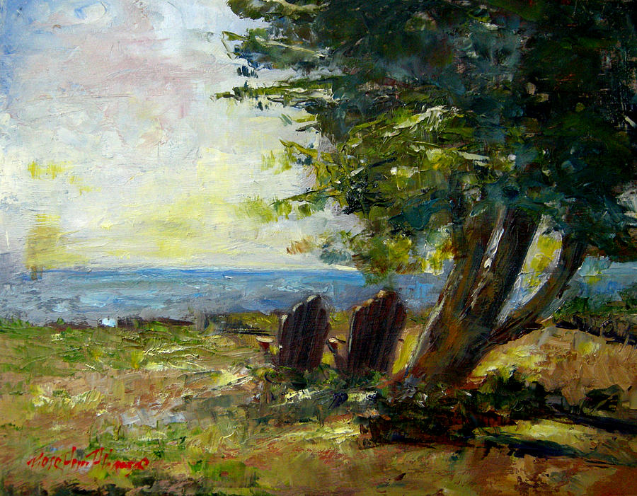 View For Two Painting  - View For Two Fine Art Print