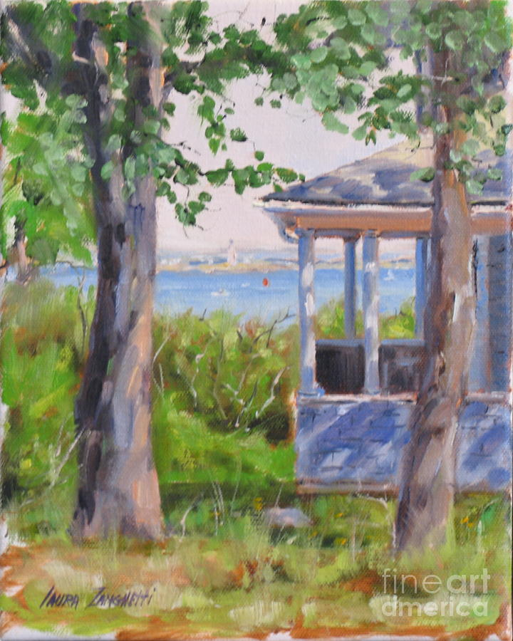 View From Pointe Allerton Painting  - View From Pointe Allerton Fine Art Print