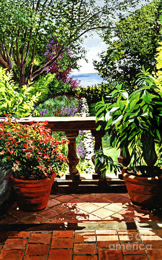 View From The Royal Garden Painting  - View From The Royal Garden Fine Art Print