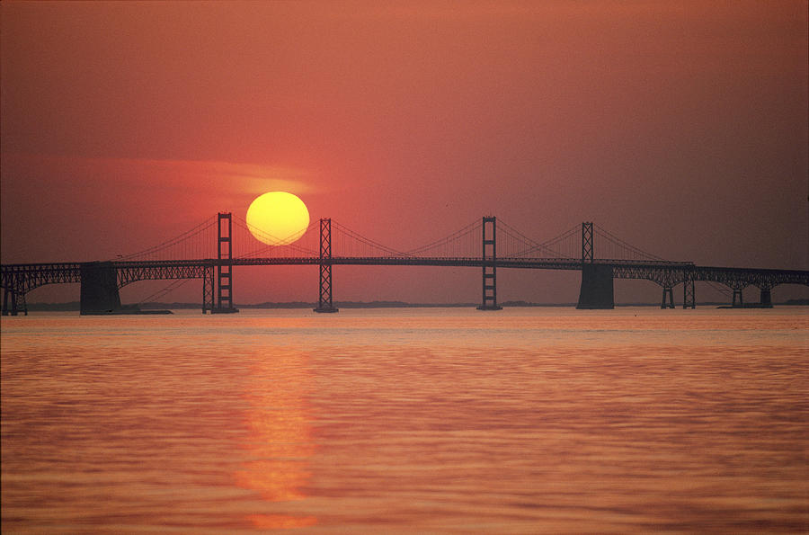 View From The Water Of The Chesapeake Photograph