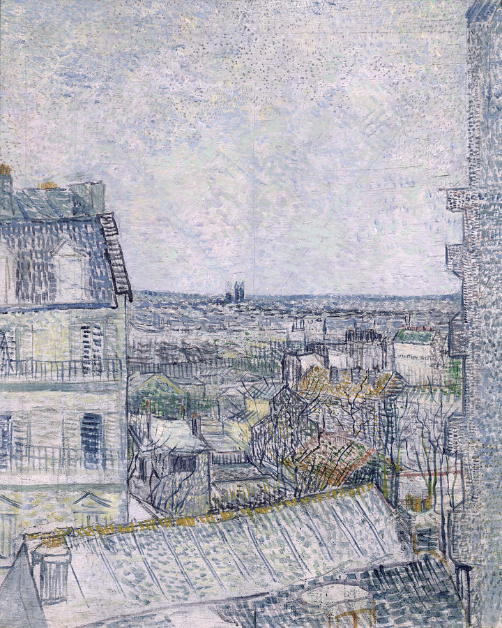 View From Vincents Room In The Rue Lepic Painting  - View From Vincents Room In The Rue Lepic Fine Art Print