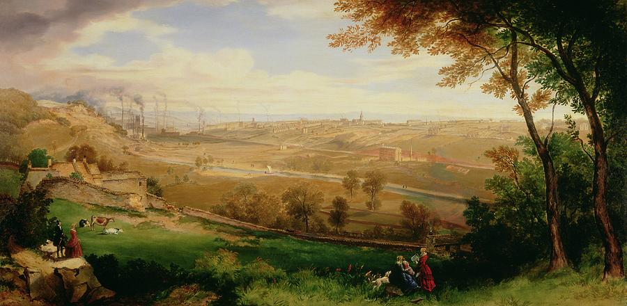 View Of Bradford Painting  - View Of Bradford Fine Art Print