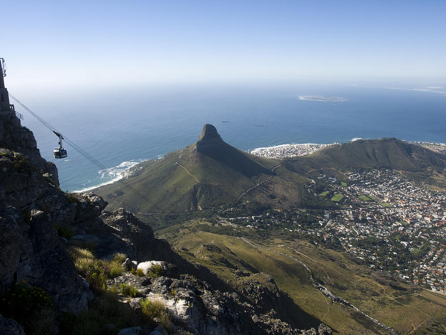 View Of Cape Town From Table Mountain Photograph  - View Of Cape Town From Table Mountain Fine Art Print
