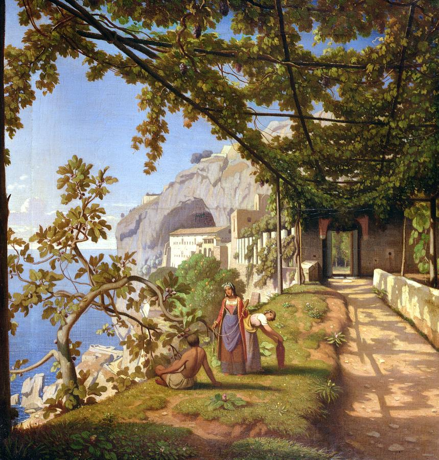 View Of Capri Painting  - View Of Capri Fine Art Print