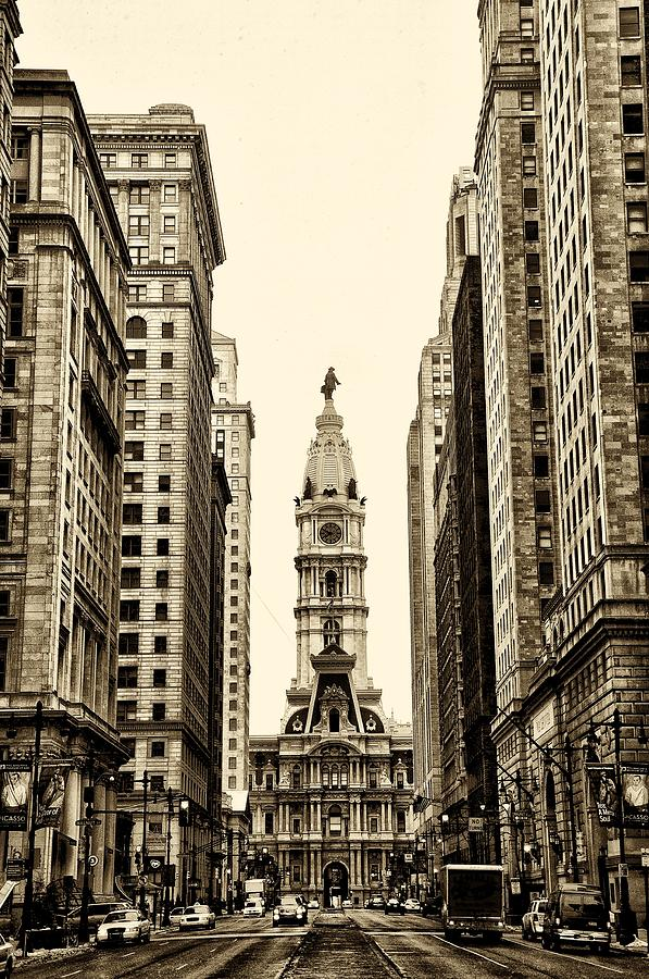 View Of Cityhall From Broad Street In Philadelphia Photograph