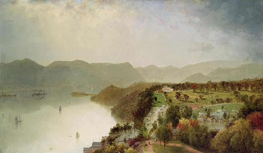 View Of Cozzens Hotel Near West Point - Ny Painting  - View Of Cozzens Hotel Near West Point - Ny Fine Art Print