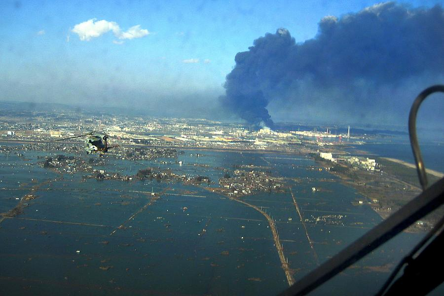 View Of Destroyed Sendai Japan On March Photograph