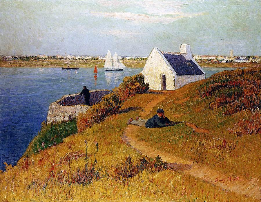 view of lorient in brittany by henry moret. Black Bedroom Furniture Sets. Home Design Ideas