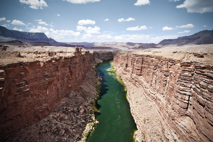 View Of Marble Canyon From The Navajo Bridge Photograph  - View Of Marble Canyon From The Navajo Bridge Fine Art Print