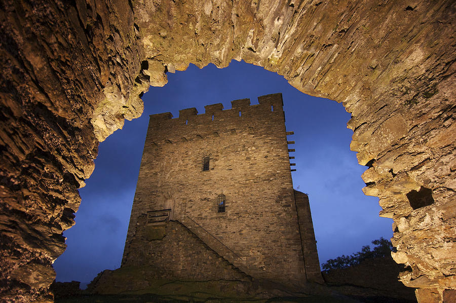 Color Image Photograph - View Of Medieval Dolwyddelan Castle by Jim Richardson