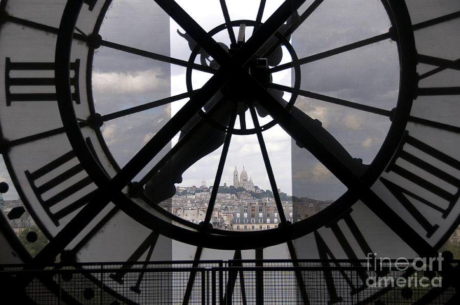 View Of Montmartre Through The Clock At Museum Orsay.paris Photograph