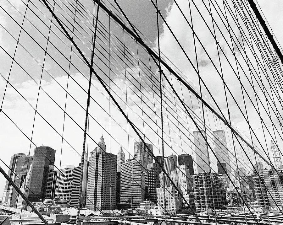 View Of New York From Brooklyn Bridge, Usa Photograph  - View Of New York From Brooklyn Bridge, Usa Fine Art Print