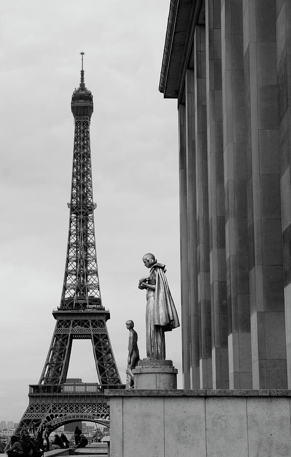 View Of Paris France With Eiffel Tower Photograph  - View Of Paris France With Eiffel Tower Fine Art Print
