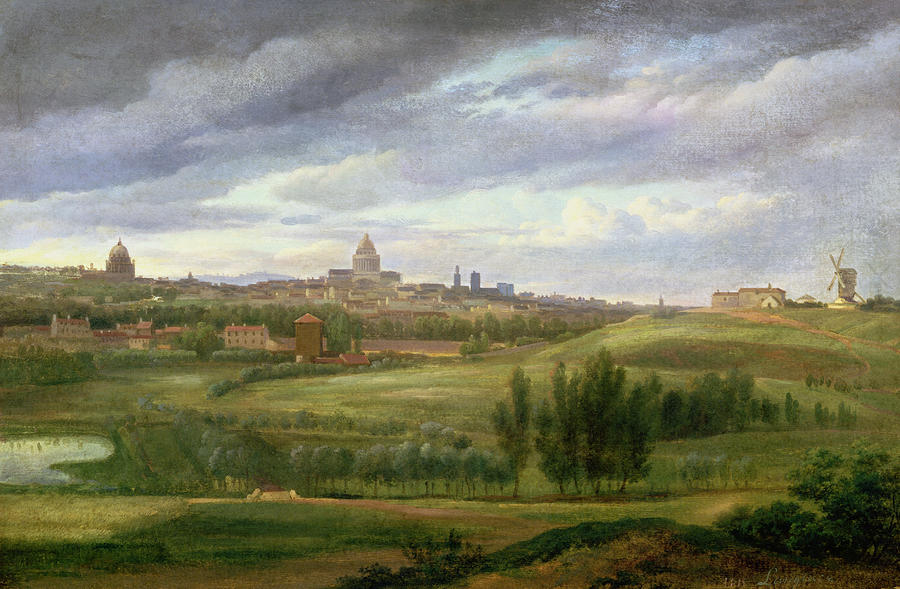 View Of Paris From Butte Aux Cailles Painting