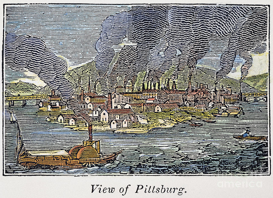 1836 Photograph - View Of Pittsburgh, 1836 by Granger