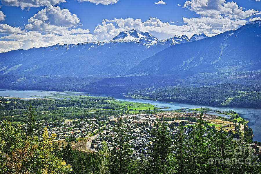 View Of Revelstoke In British Columbia Photograph  - View Of Revelstoke In British Columbia Fine Art Print