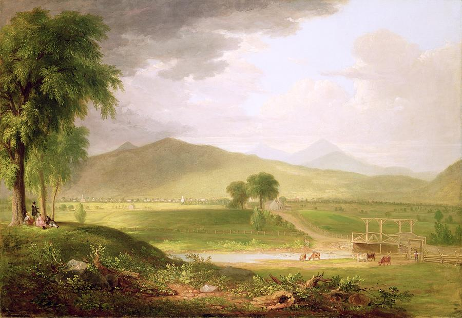 View Of Rutland - Vermont Painting  - View Of Rutland - Vermont Fine Art Print