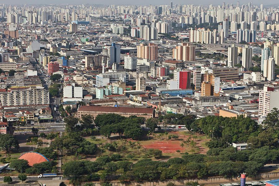 Horizontal Photograph - View Of Sao Paulo Skyline by Jacobo Zanella