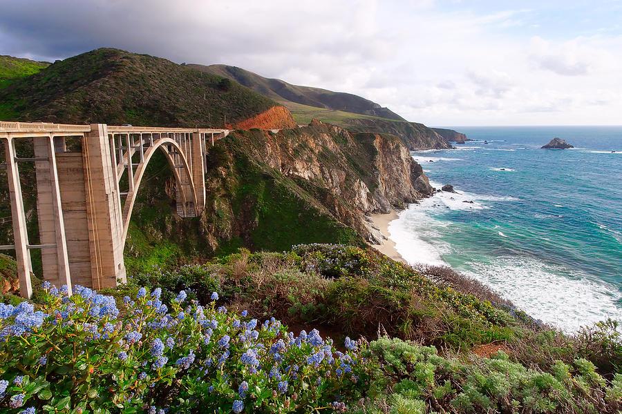 View Of The Bixby Creek Bridge Big Sur California Photograph
