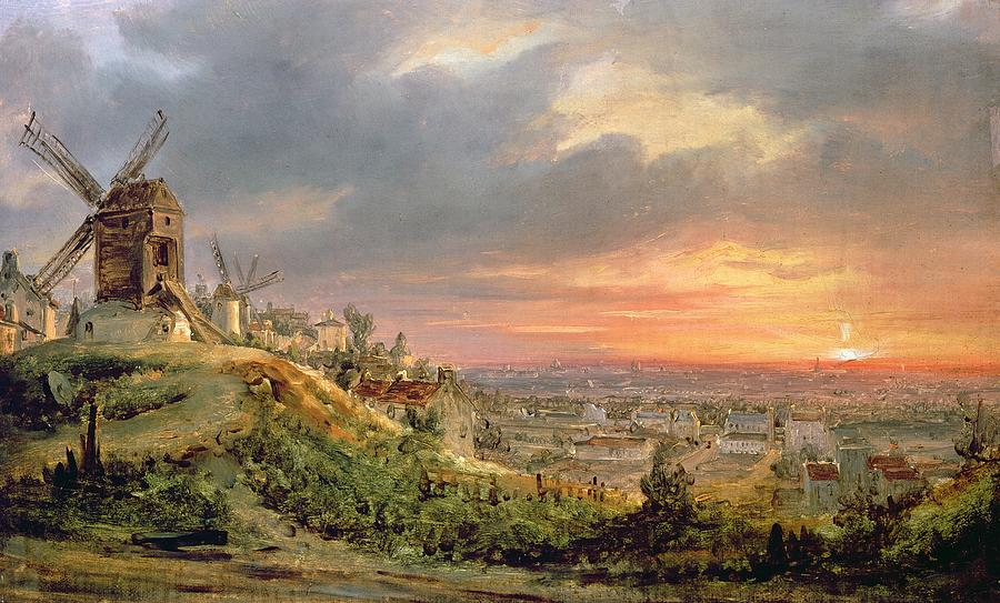 View Of The Butte Montmartre Painting  - View Of The Butte Montmartre Fine Art Print