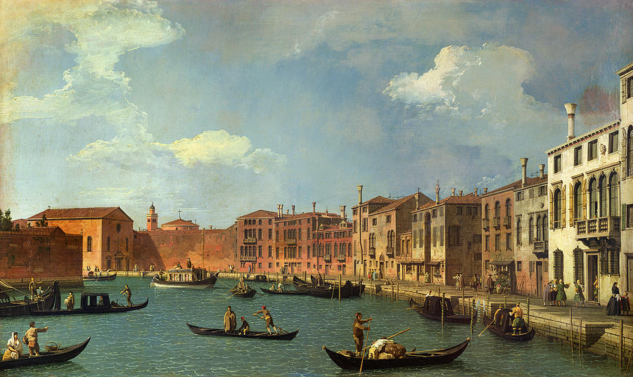 View Of The Canal Of Santa Chiara Painting