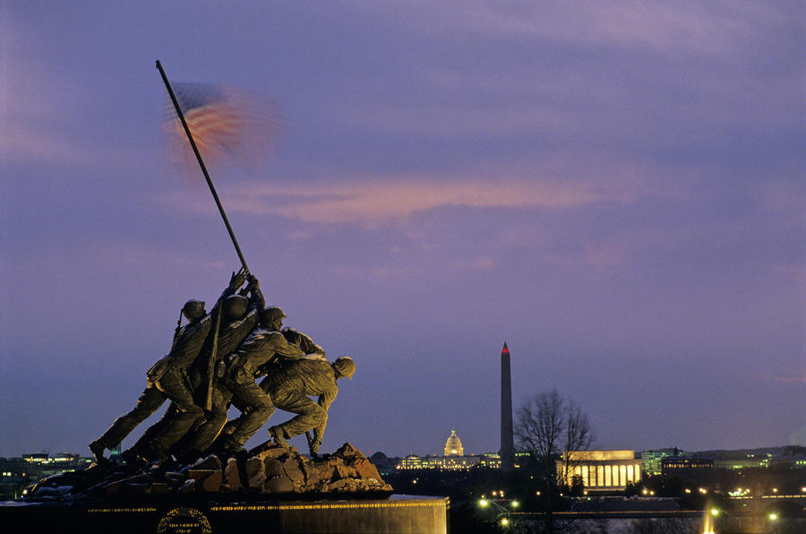 View Of The Iwo Jima Monument Photograph