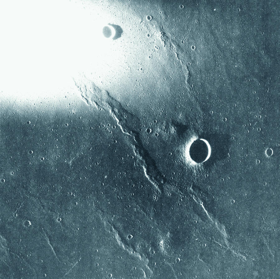 View Of The Landscape Of The Moon Photograph