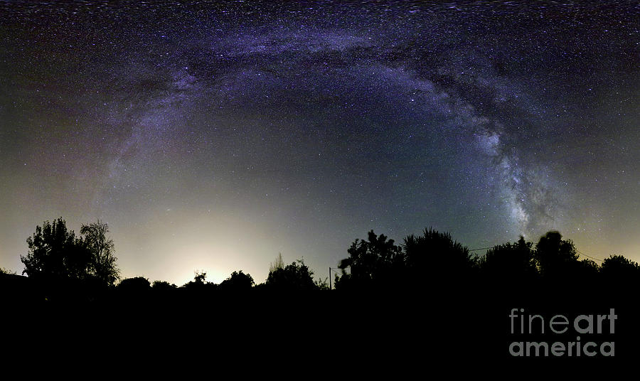 View Of The Milky Way Taken In Elvas Photograph  - View Of The Milky Way Taken In Elvas Fine Art Print