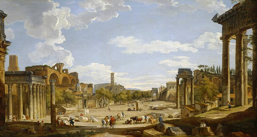 View Of The Roman Forum Painting