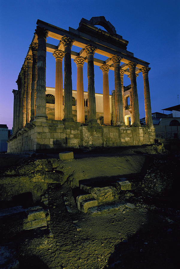 View Of The Roman Temple Of Diana Photograph