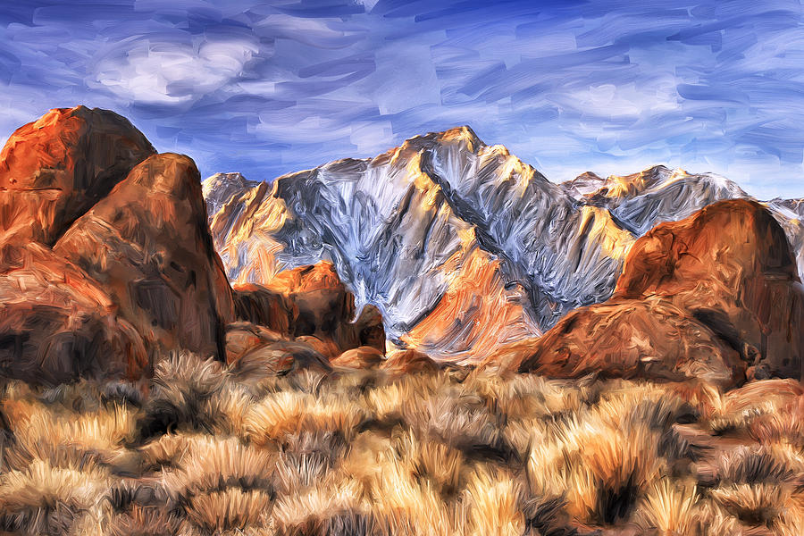 View Of The Sierras Painting
