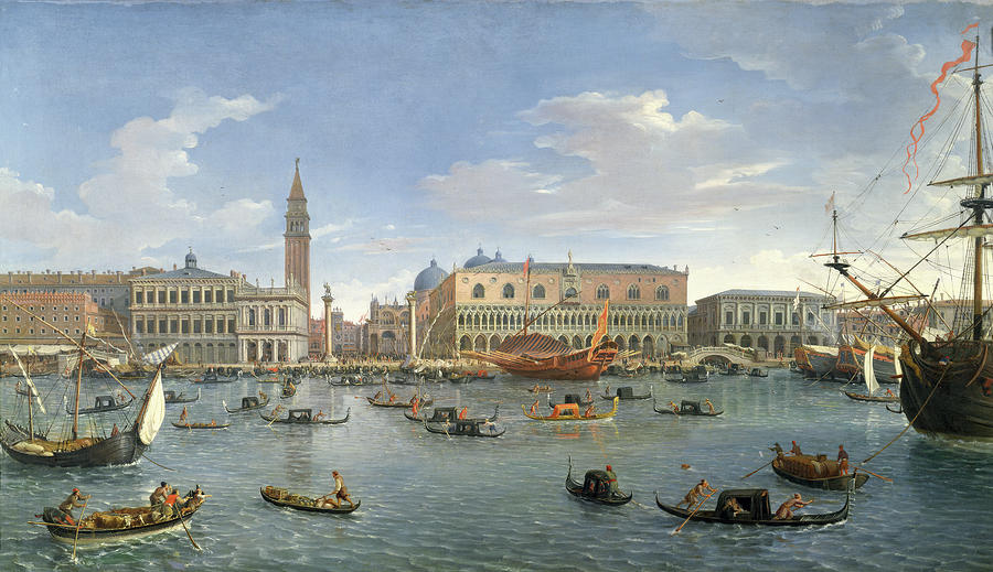 View Of Venice From The Island Of San Giorgio Painting  - View Of Venice From The Island Of San Giorgio Fine Art Print