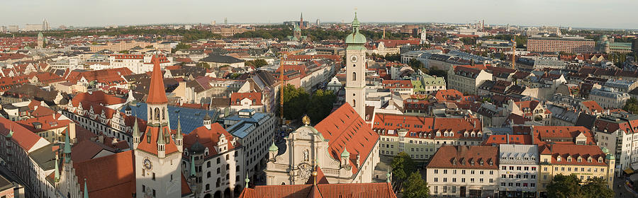View Over Munich With Frauenkirche Photograph  - View Over Munich With Frauenkirche Fine Art Print